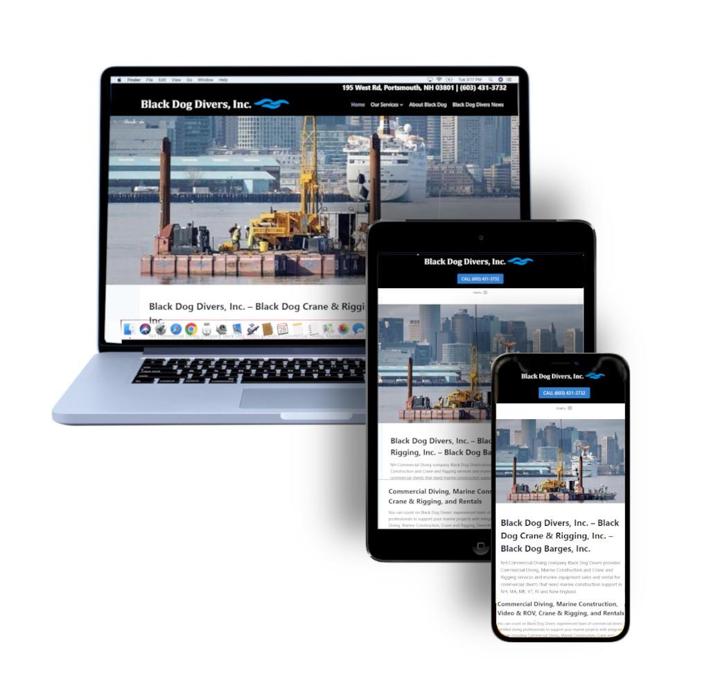 Black Dog Divers Inc relaunch website